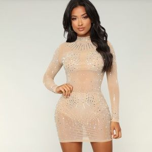 Fashion Nova - See Through Me Mesh Dress